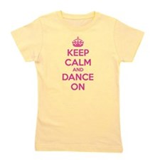 Unique Keep calm and dance on Girl's Tee