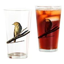 Song Bird Drinking Glass