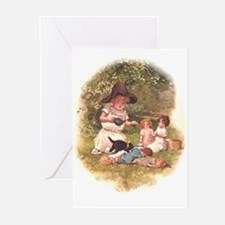 Unique Antique dolls Greeting Cards (Pk of 10)