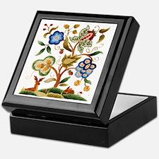 Tree of Life Embroidery Keepsake Box