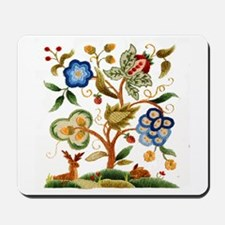 Tree of Life Embroidery Mousepad