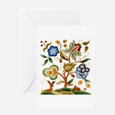 Tree of Life Embroidery Greeting Card