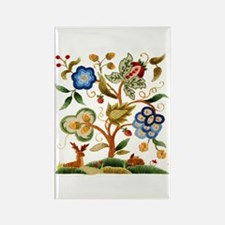 Tree of Life Embroidery Rectangle Magnet
