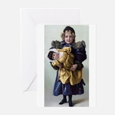 Funny Antique dolls Greeting Cards (Pk of 10)