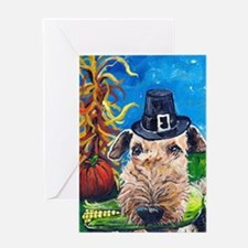 Unique Original terrier artwork Greeting Card