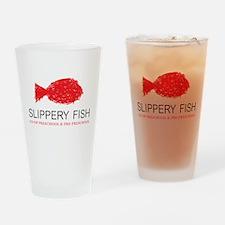Slippery Fish Logo Drinking Glass