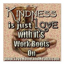 Kindness Is Just Love - Square Car Magnet 3""