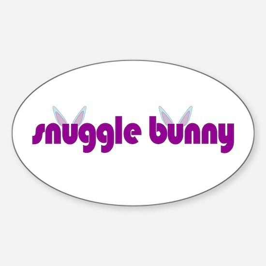Snuggle Bunny Oval Decal