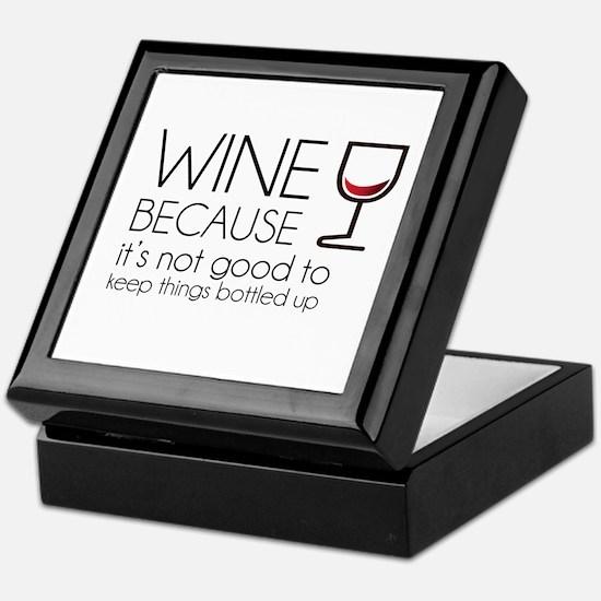 Wine Bottled Up Keepsake Box