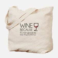 Wine Bottled Up Tote Bag