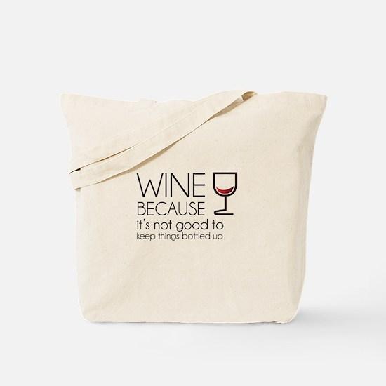 Wine Bottled Up Tote Bag
