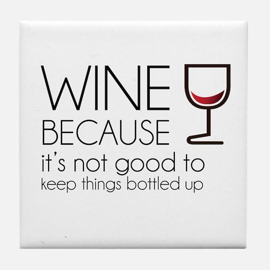 Wine Bottled Up Tile Coaster