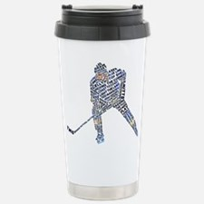 Cool Hockey player Travel Mug