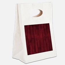Rustic Burgandy Red Painted Faux Wood Canvas Lunch