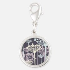 Chic Purple and Blue Bold Dandelions Charms