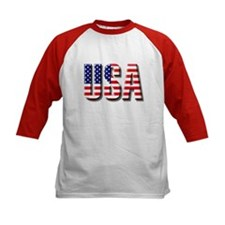 American Flag USA Baseball Tee