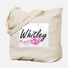 Whitley surname artistic design with Flow Tote Bag