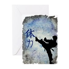 Cute Taekwondo Greeting Cards (Pk of 20)