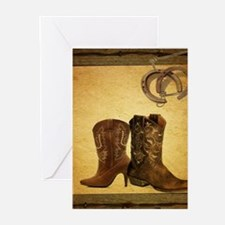equestrian cowboy boots western Greeting Cards