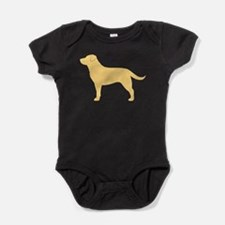 Cute Lab retriever Baby Bodysuit