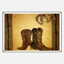 cowboy boots western country Banner
