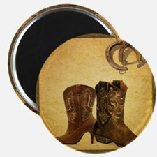 equestrian cowboy boots western Magnets