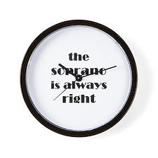 soprano right Wall Clock
