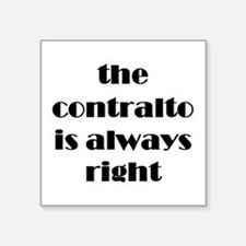 "contralto right Square Sticker 3"" x 3"""
