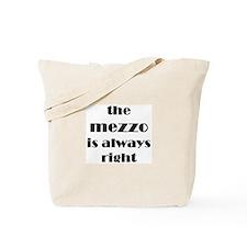 mezzo right Tote Bag