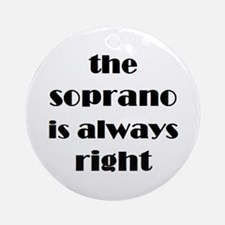 soprano right Ornament (Round)