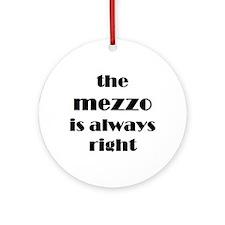 mezzo right Ornament (Round)