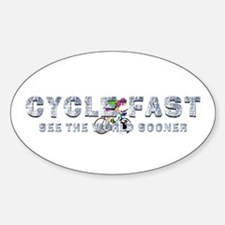 TOP Cycle Fast Sticker (Oval)
