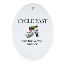 TOP Cycle Fast Ornament (Oval)