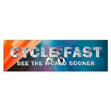 TOP Cycle Fast Bumper Sticker