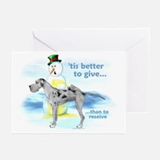 Great Dane MerleUC Giving Greeting Cards (Pk of 10