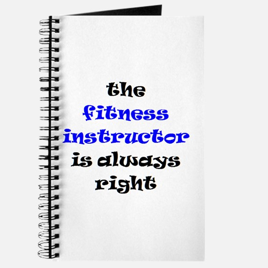 fitness instructor right Journal