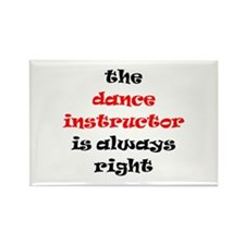 dance instructor right Rectangle Magnet