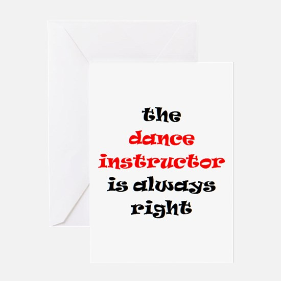 dance instructor right Greeting Card