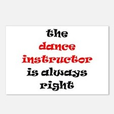 dance instructor right Postcards (Package of 8)