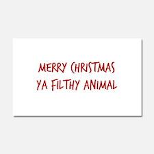 Merry Christmas Ya Filthy Anima Car Magnet 20 x 12