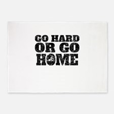Go Hard Or Go Home Rowing 5'x7'Area Rug