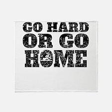 Go Hard Or Go Home Rowing Throw Blanket