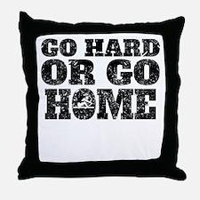 Go Hard Or Go Home Rowing Throw Pillow