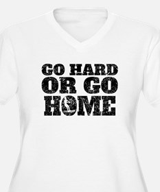 Go Hard Or Go Home Waterskiing Plus Size T-Shirt