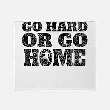 Go Hard Or Go Home Hurdles Throw Blanket