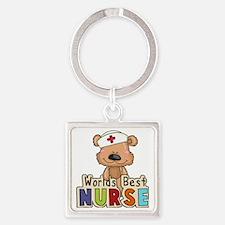 The World's Best Nurse Square Keychain