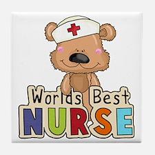 The World's Best Nurse Tile Coaster