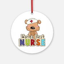 The World's Best Nurse Round Ornament