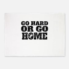 Go Hard Or Go Home Bowling 5'x7'Area Rug
