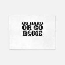 Go Hard Or Go Home Football 5'x7'Area Rug